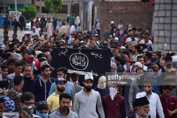 DOWNTOWN SRINAGAR JAMMU KASHMIR INDIA People carrying the body of civilian Adil Ahmed Yatoo who got killed by armoured vehicle during clashes near...