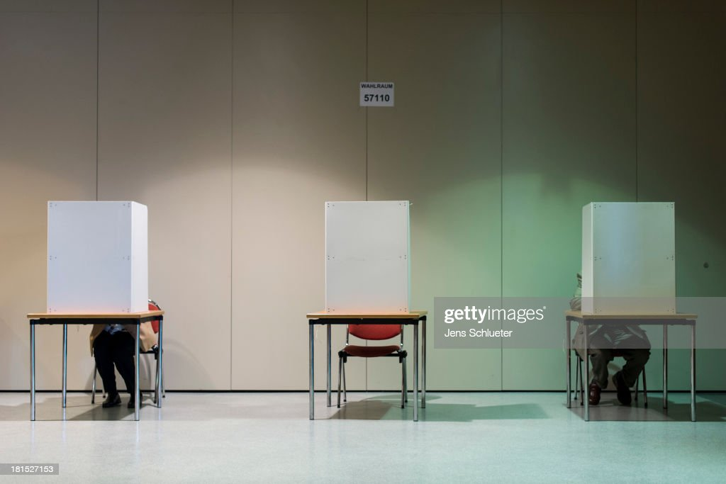 Germany Votes In Federal Elections : Nachrichtenfoto