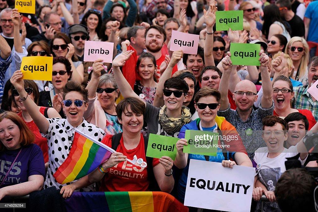 Ireland Holds Referendum On Same Sex Marriage Law : News Photo