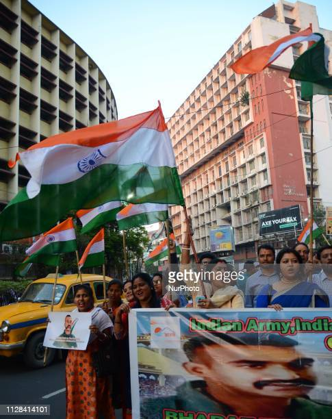 People celebrate for the return of Indian Air Force pilot Wing Commander Abhinandan Varthaman from Pakistan captivity who was captured by Pakistan...
