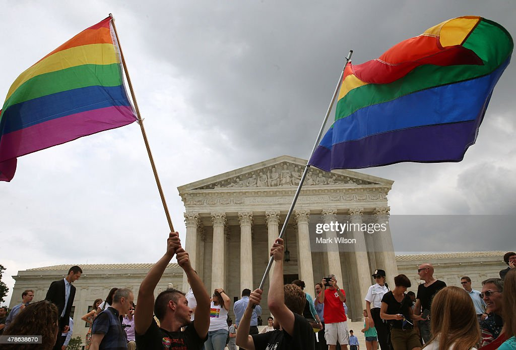 Supreme Court Rules In Favor Of Gay Marriage : News Photo