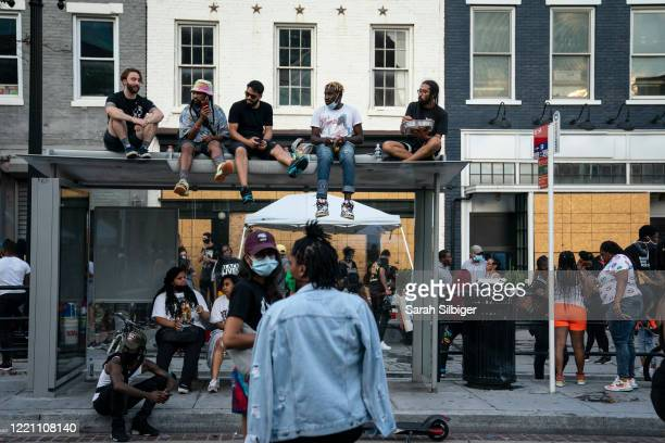 People celebrate Juneteenth at Moechella a gogo music event on June 19 2020 in Washington DC Juneteenth commemorates June 19 when a Union general...