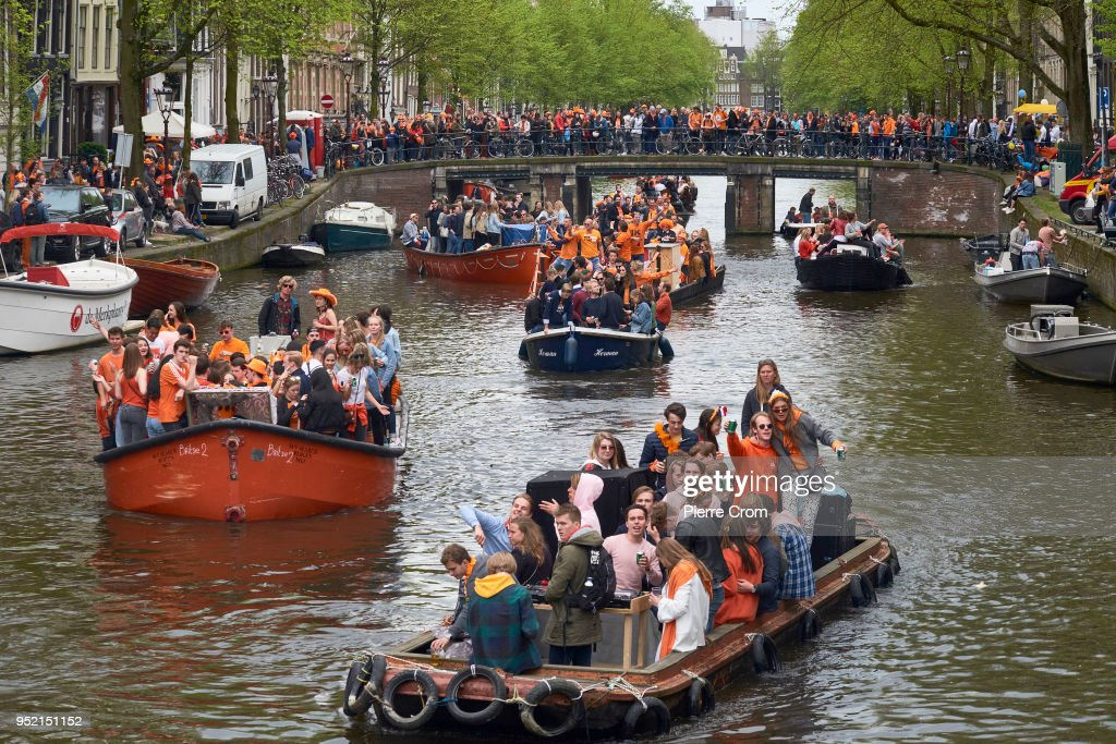 King's Day Is Celebrated In Amsterdam : News Photo