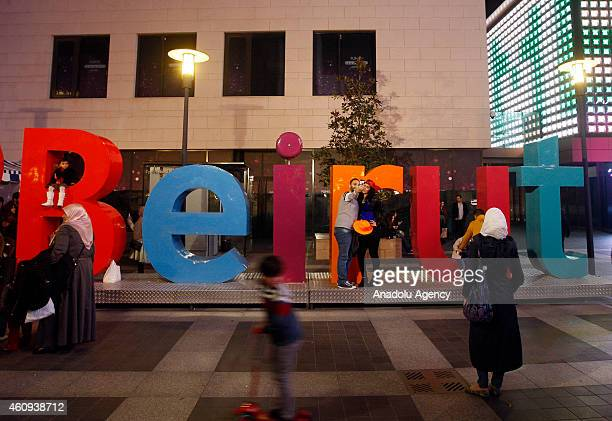 People celebrate new year at the Martyrs' Square and AlHamra street in Beirut Lebanon on January 1 2015