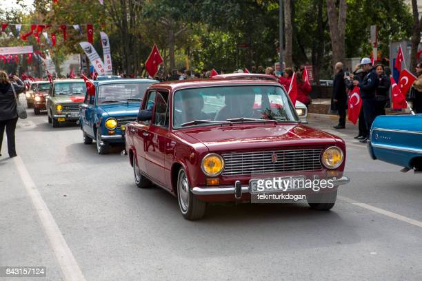 people celebrate republic day at street parade in kadikoy istanbul turkey - republic day stock pictures, royalty-free photos & images