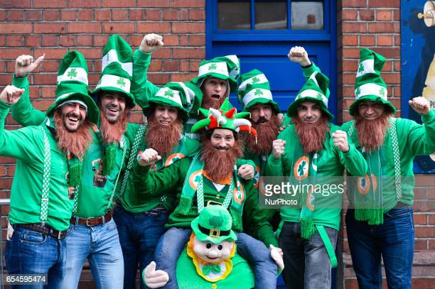 People celebrate St Patrick's Day 2017 during the parade in Dublin's city center This year edition of St Patrick's Festival takes place from March...
