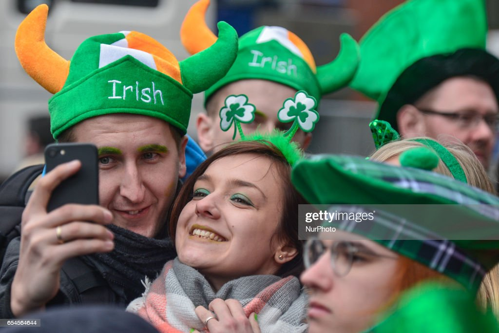 People celebrate St Patrick's Day 2017. This year edition of St Patrick's Festival takes place from March 16th-19th, and brings 3,000 artists, musicians, dancers, poets and performers in a stanning programme with many events spanning four days and nights. On Friday, March 17, 2017, in Dublin, Ireland.