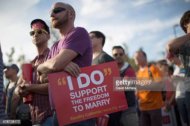 People celebrate the Supreme Court ruling on samesex marriage on June 26 2015 in West Hollywood California The Supreme Court ruled today that samesex...