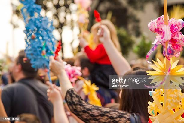 People celebrates the Palm Sunday