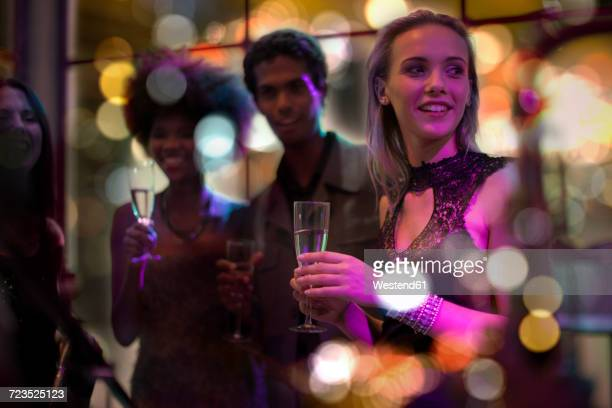 people celebrating and having fun on a party - formalwear stock pictures, royalty-free photos & images