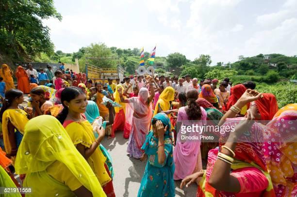 People celebrating festival, Rajasthan, India