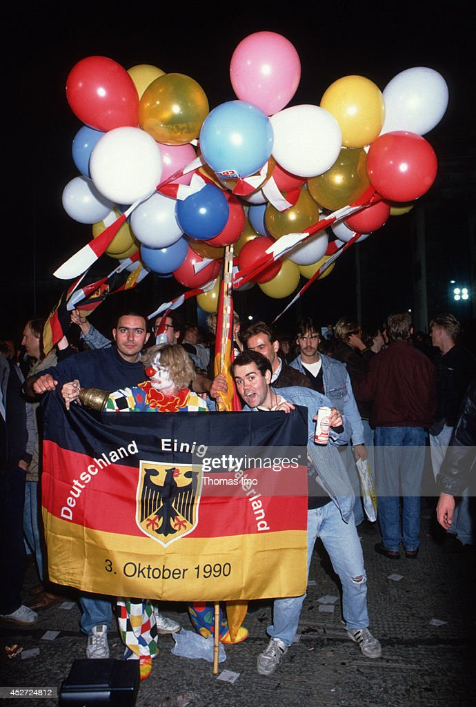 People celebrating the German Unity Day on October 03, 2014, in Berlin, Germany. The year 1990 marks the 25th anniversary of the fall of the Berlin Wall.