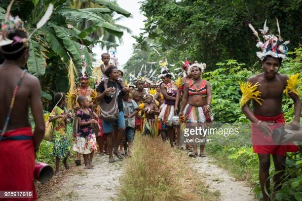 People celebrating in Papua New Guinea