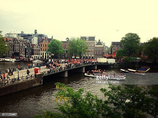 People celebrating Queens day