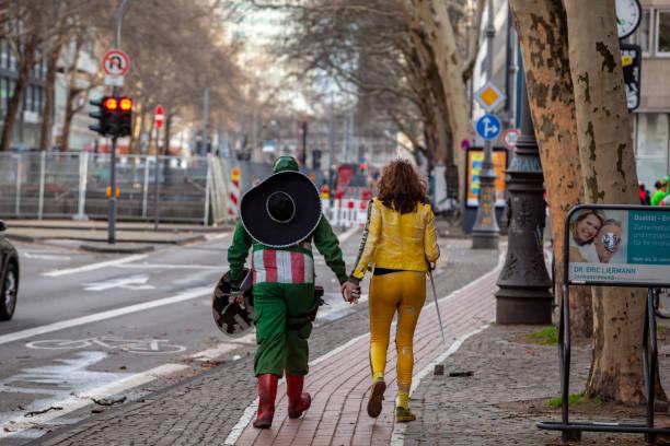 People celebrating the carnival in Germany