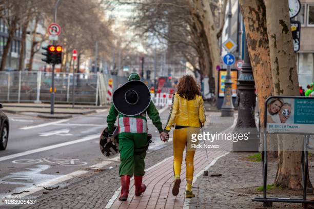 people celebrating the carnival in germany - image title stock pictures, royalty-free photos & images