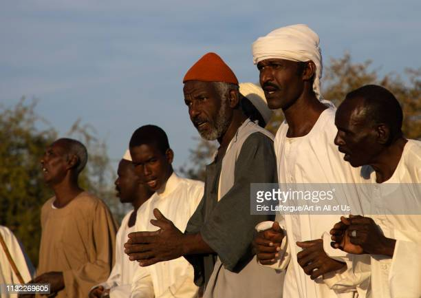 People chanting during the friday sufi celebration at sheikh Hamad el Nil tomb, Khartoum State, Omdurman, Sudan on January 4, 2019 in Omdurman, Sudan.