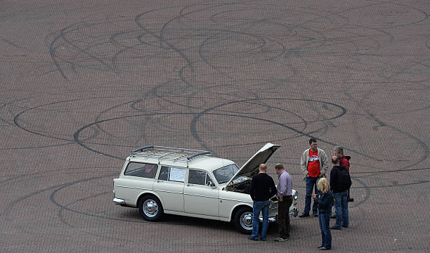 5ba0ccfbf1 People chat at a oldtimer car on the area of the disused Coal mine  Zeche