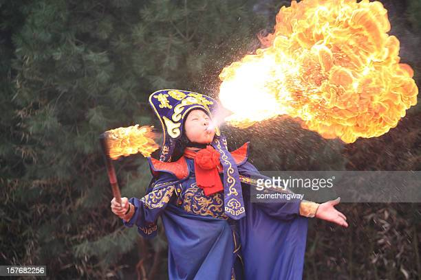 People : China Sichuan Opera Fire Breather