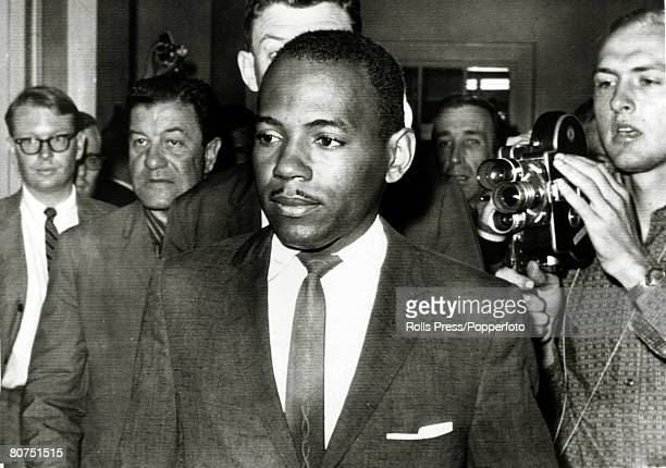 October 1962 Oxford Mississippi Black student James Meredith leaves the registrar's office after enrolling James Meredith was the first black student...