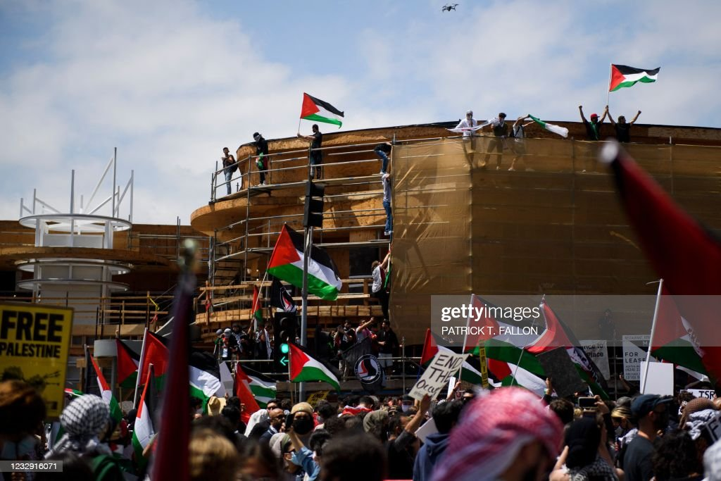US-ISRAEL-PALESTINIANS-CONFLICT-PROTEST-DEMONSTRATION : News Photo