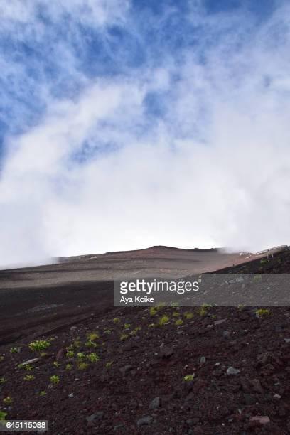 People climbing Mt.Fuji
