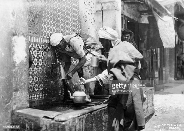 People collecting water from a well Rabat Morocco c1920sc1930s
