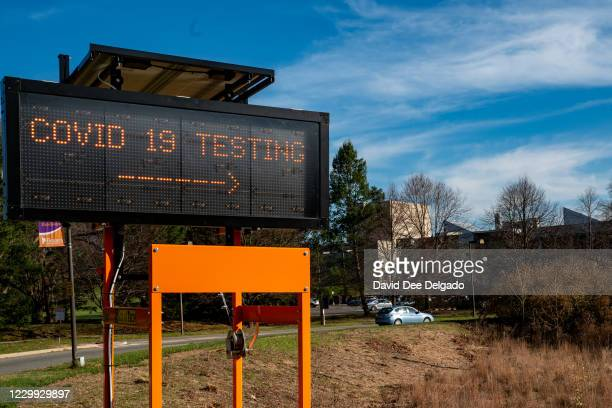 People come to be tested for COVID-19 at a test site in a parking lot at Bergen Community College run by Bergen County and the Bergen New Bridge...