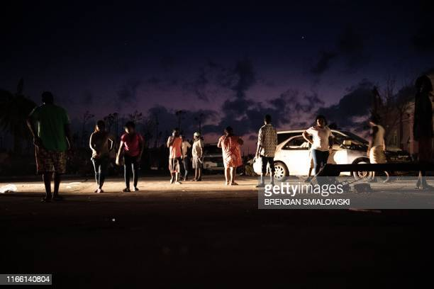 People congregate outside the hospital after Hurricane Dorian September 5 in Marsh Harbor Great Abaco Bahamas The death toll from Hurricane Dorian...