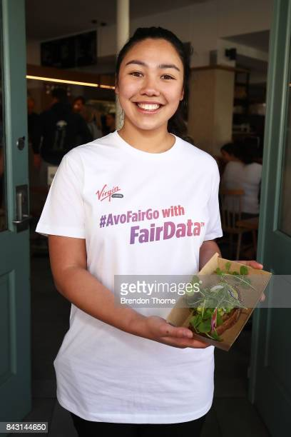 People consume smashed avocado on toast at the Virgin Mobile FairData Cafe PopUp at Little Evie in Redfern on September 6 2017 in Sydney Australia