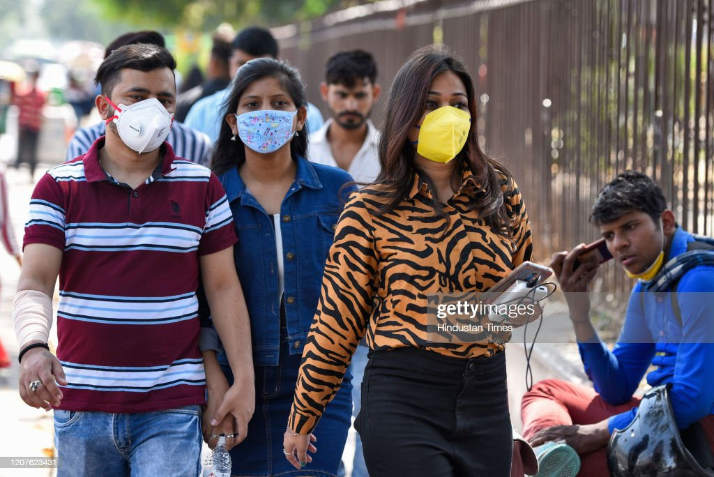 People Take Precautions As Coronavirus COVID 19 Spread In India : News Photo