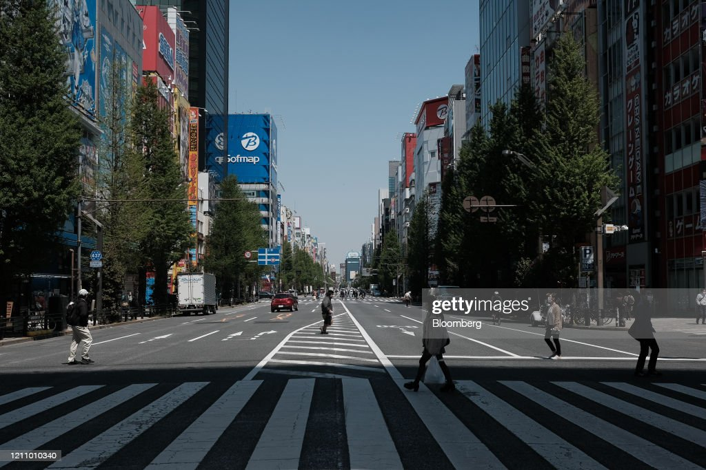 Empty Streets As Japan Continues Quasi-lockdown : ニュース写真