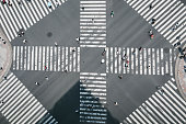 high angle view intersection
