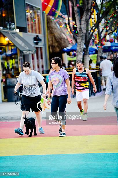 People crossing street in West Hollywood