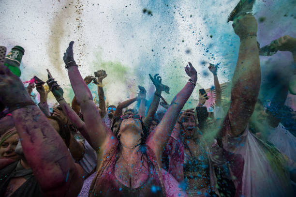 Holi Festival Of Colours Is Celebrated In London