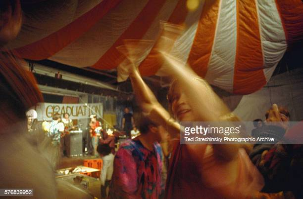 People dance at the Acid Test Graduation a celebration organized by Ken Kesey and his Merry Pranksters in which participants graduated 'beyond acid'...