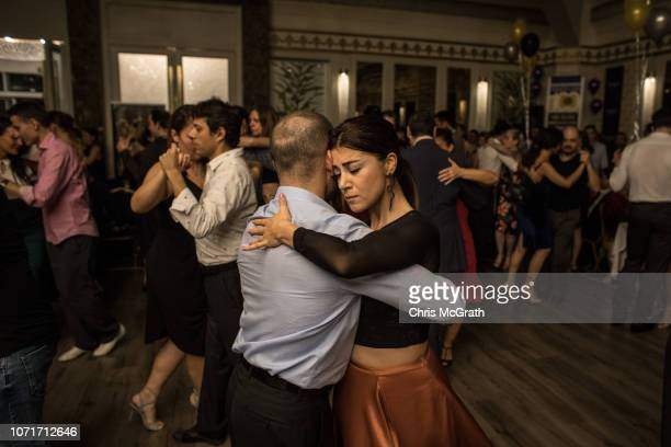 People dance the Tango during the three daylong Sultans of Istanbul Tango Marathon and Festival on November 24 2018 in Istanbul Turkey Despite being...