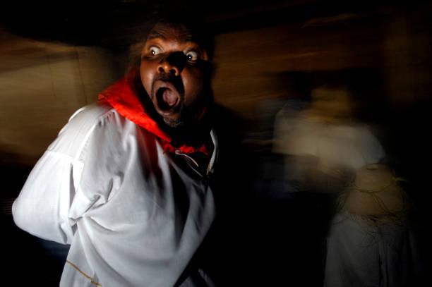 People Crown New Voodoo Priests In Port-Au-Prince Photos and