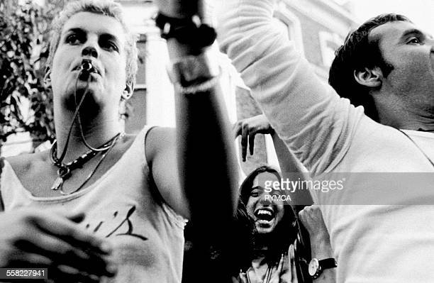 People dancing at Notting Hill Carnival, London, UK, 1990s.