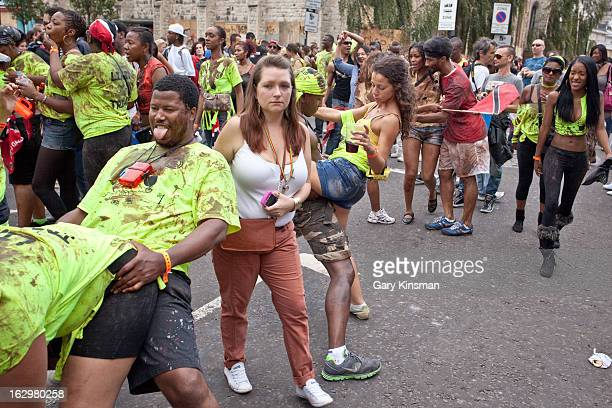 People dancing at the 2011 Notting Hill Carnival in London