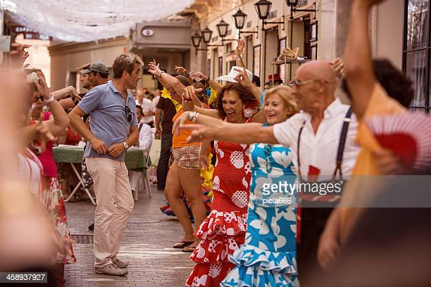 People dancing Flamenco in the streets
