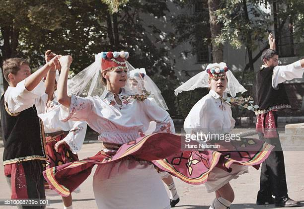 people dancing in folk festival - odessa ukraine stock pictures, royalty-free photos & images