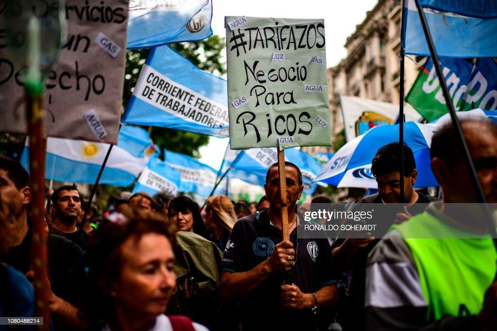 ARGENTINA-ECONOMY-PRICES-PROTEST : News Photo