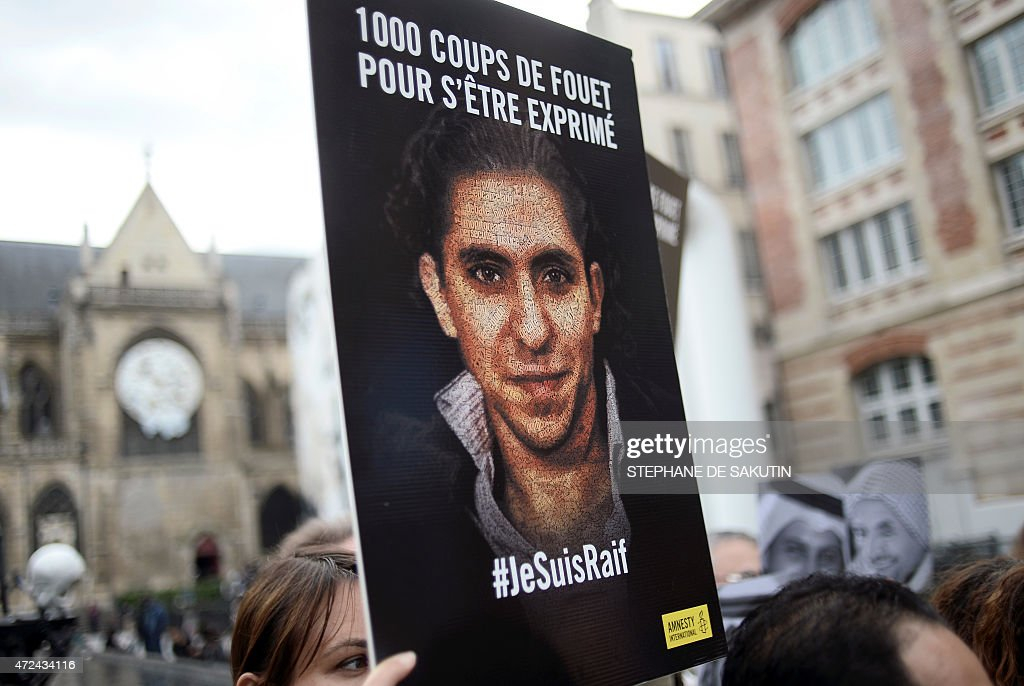 FRANCE-PROTEST-HUMAN-RIGHTS-BADAWI : News Photo