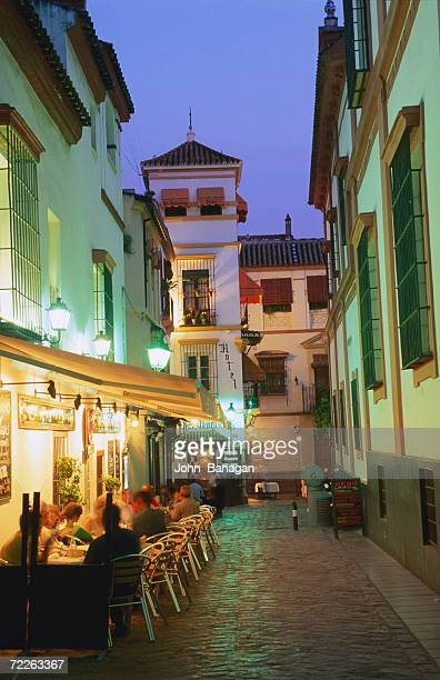 People dining al fresco, Sevilla, Spain
