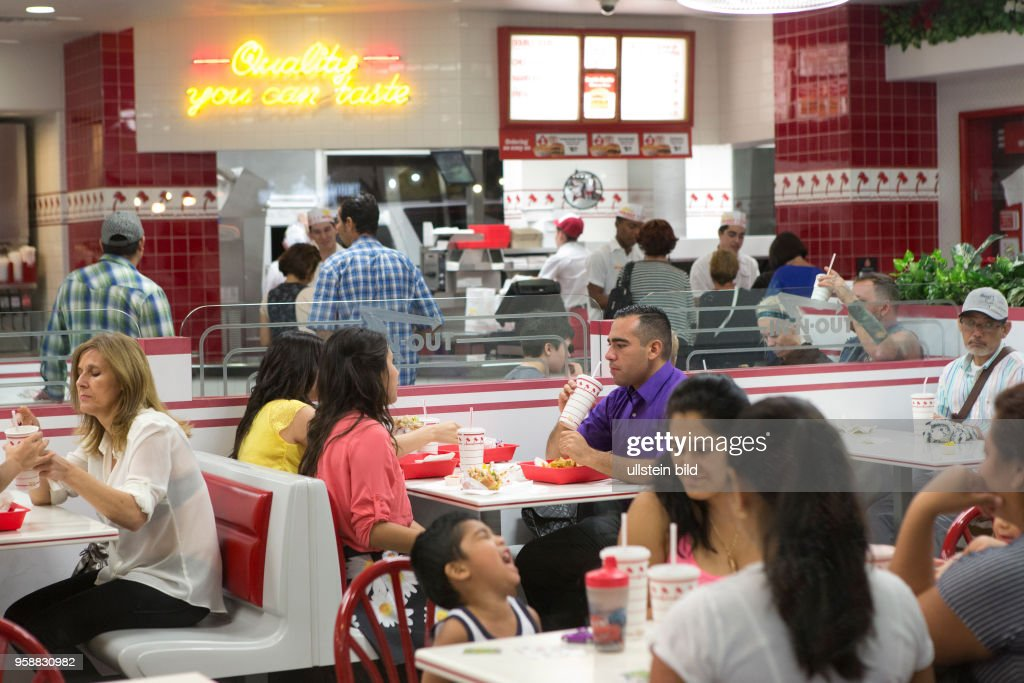 People Dining At An In N Out Restaurant Las Vegas
