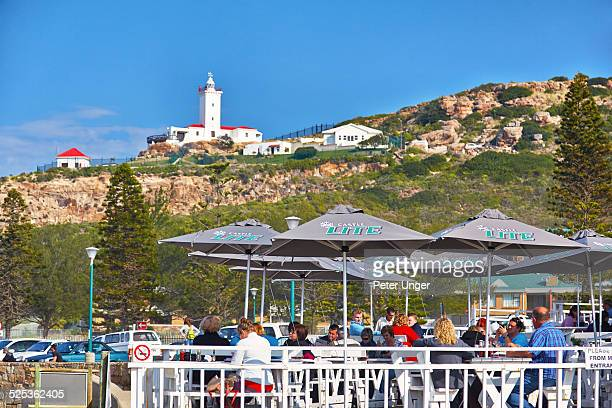 people dining at hotel at mossel bay - mossel bay stock pictures, royalty-free photos & images