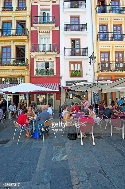 People dining in a Valencia restaurant