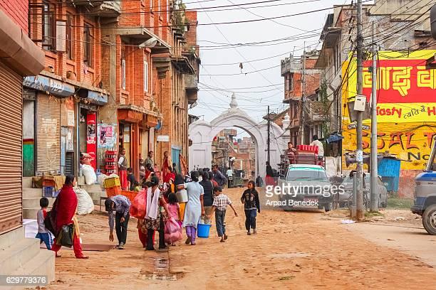 People Do Their Chores in Kathmandu Nepal
