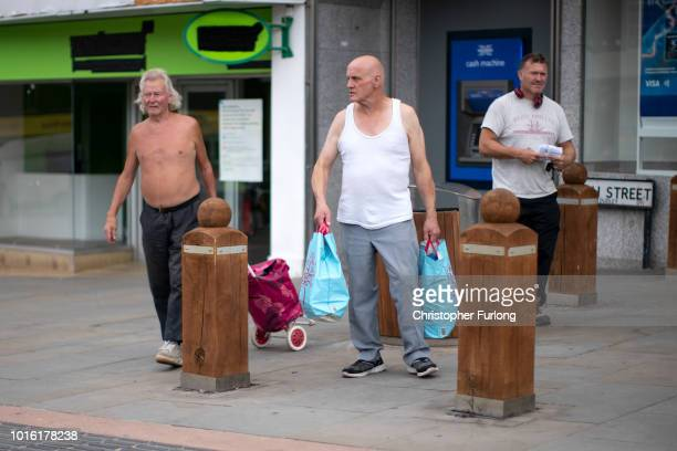 People do their shopping in the centre of town in the Black Country which was among the 29 out of 30 West Midlands voting areas to back the 'Leave'...